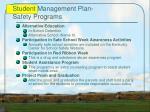 student management plan safety programs