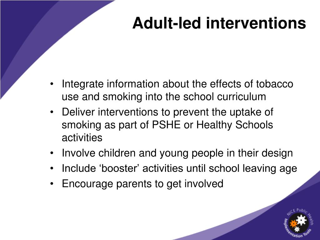 Adult-led interventions