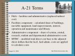 a 21 terms