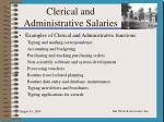 clerical and administrative salaries