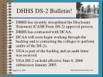dhhs ds 2 bulletin