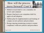 how will the process move forward cont d2