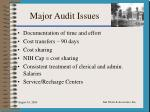 major audit issues