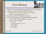 uga history