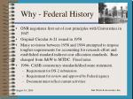 why federal history