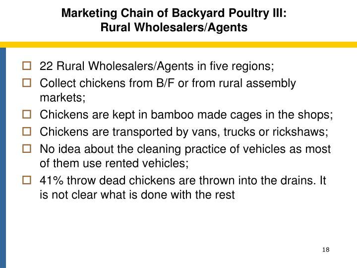 Marketing Chain of Backyard Poultry III: