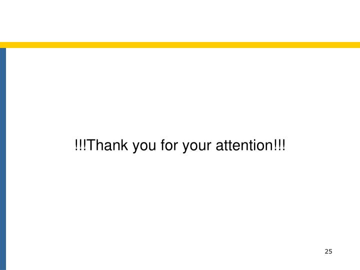 !!!Thank you for your attention!!!