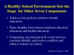 a healthy school environment sets the stage for other seven components