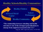 healthy schools healthy communities