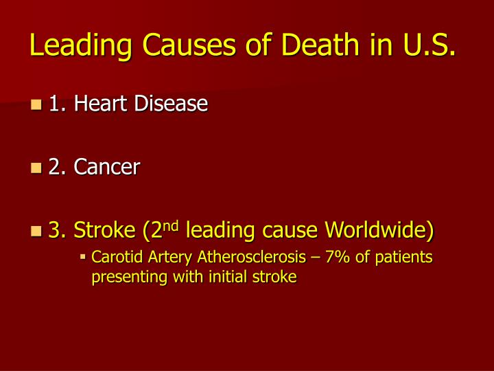 Leading causes of death in u s