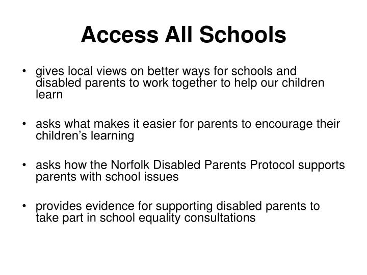 Access all schools