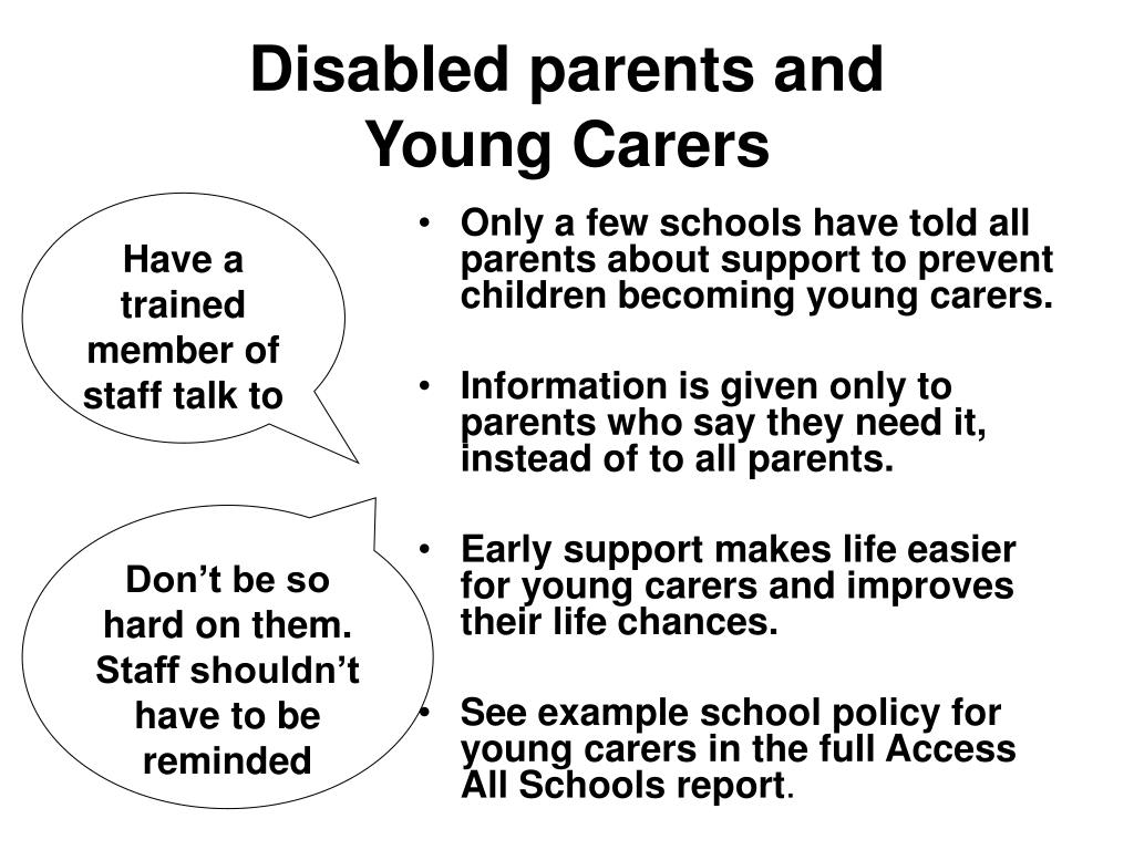 Disabled parents and
