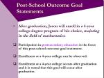 post school outcome goal statements10