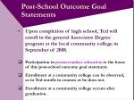 post school outcome goal statements11