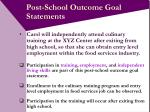 post school outcome goal statements13