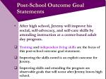 post school outcome goal statements16