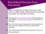 post school outcome goal statements18