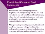 post school outcome goal statements20