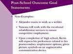 post school outcome goal statements9