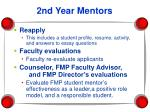2nd year mentors