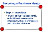 becoming a freshman mentor23