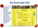 co curricular fair