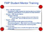 fmp student mentor training
