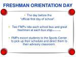 freshman orientation day