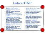 history of fmp