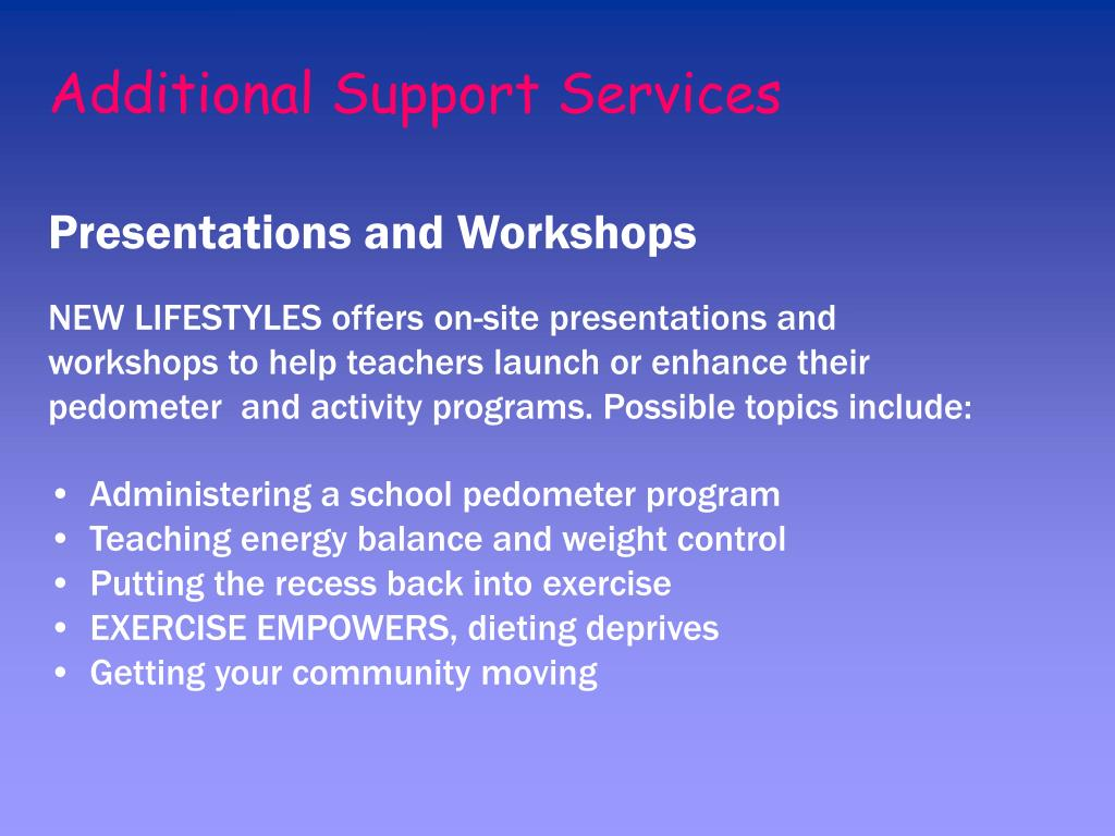 Additional Support Services