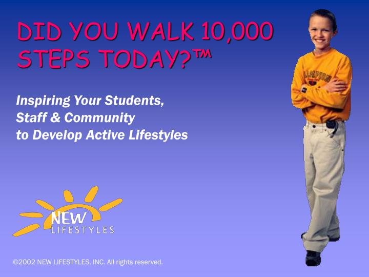 Did you walk 10 000 steps today