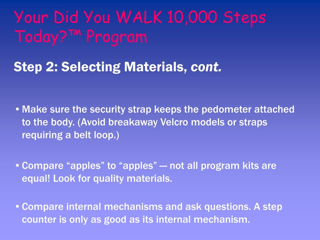 Your Did You WALK 10,000 Steps