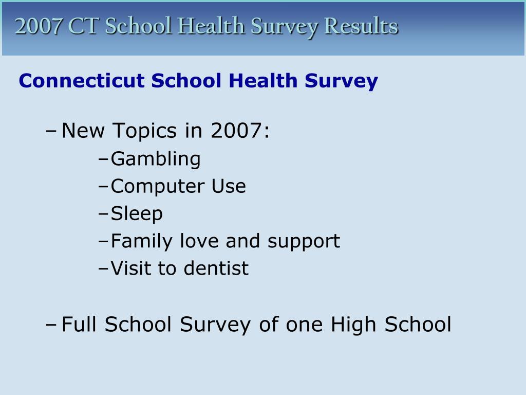 Connecticut School Health Survey