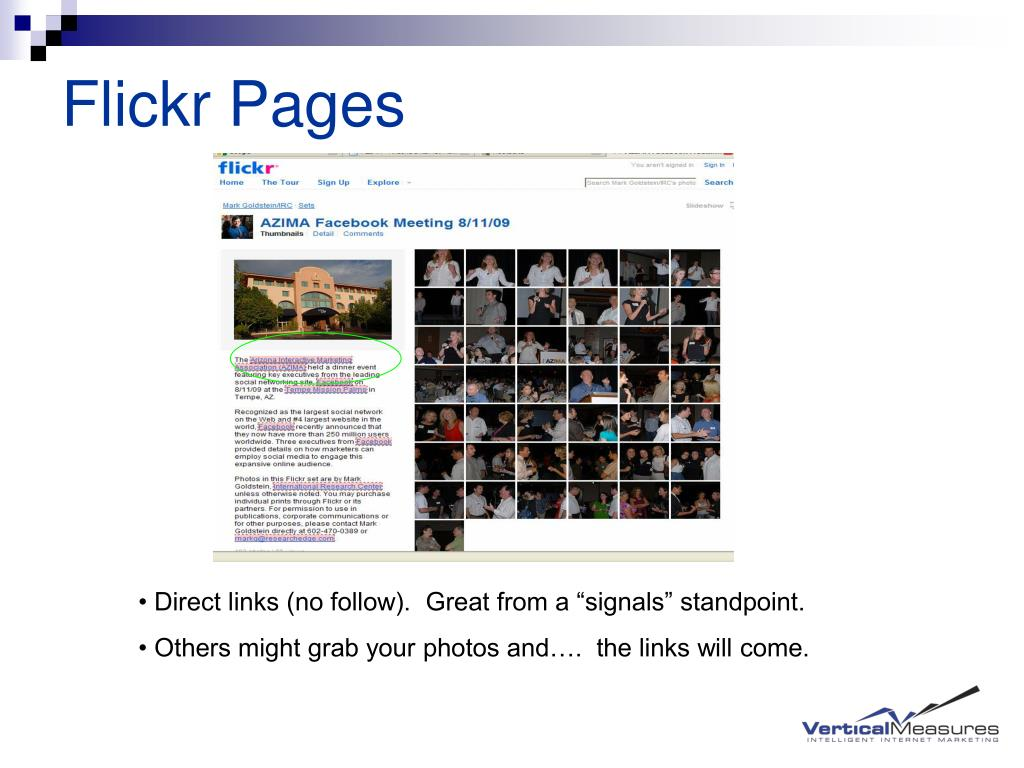 Flickr Pages