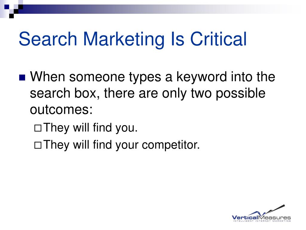 Search Marketing Is Critical