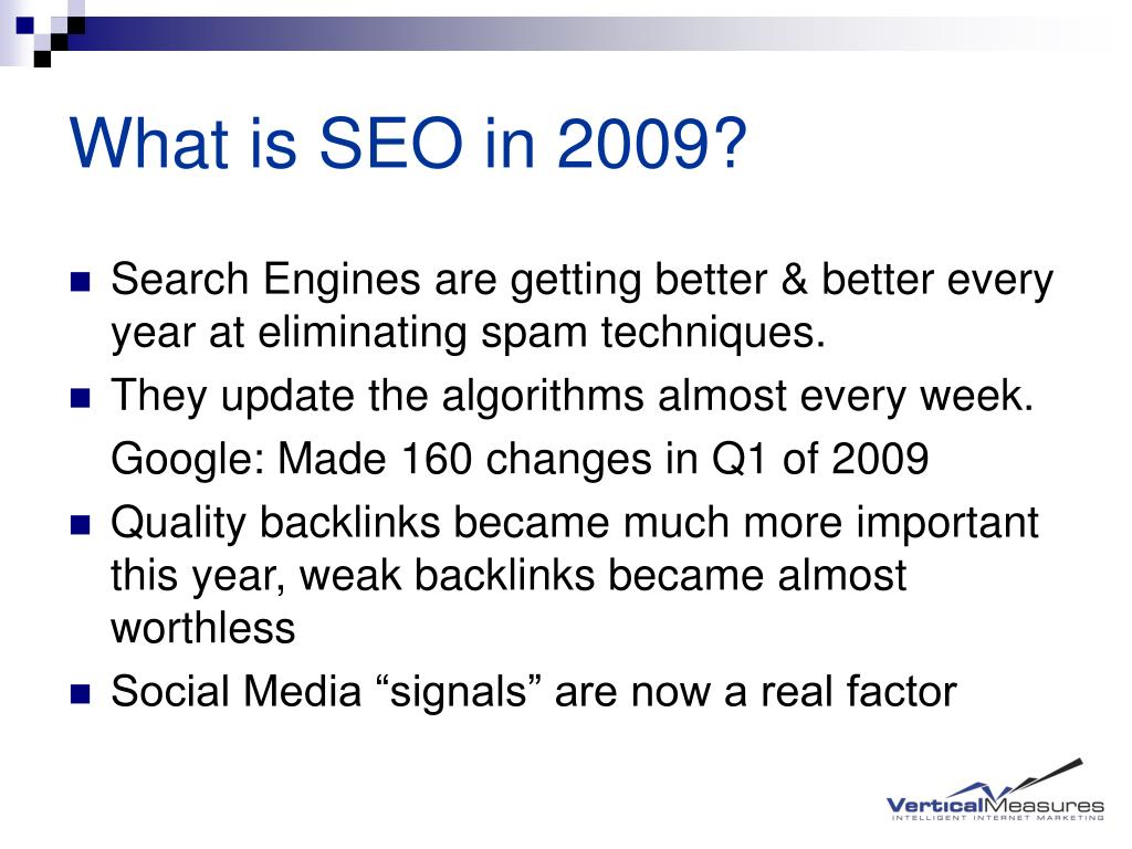 What is SEO in 2009?