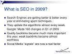 what is seo in 2009
