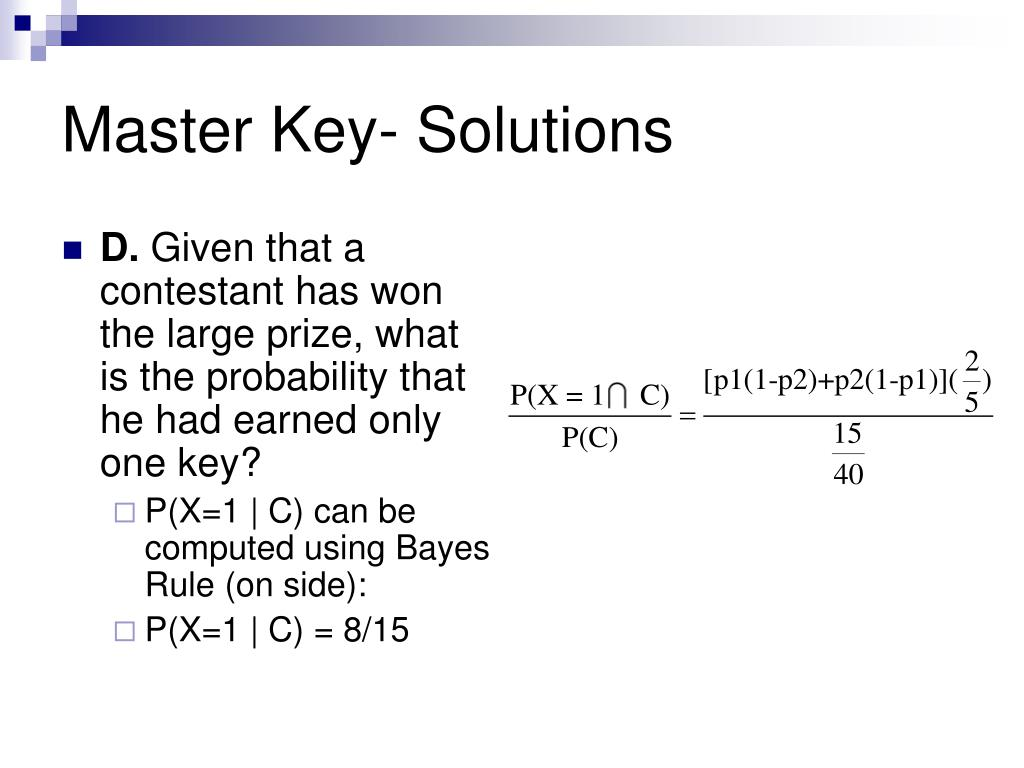 Master Key- Solutions