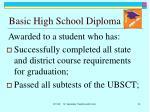 basic high school diploma