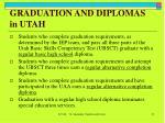 graduation and diplomas in utah