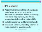 iep contains