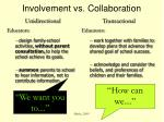involvement vs collaboration