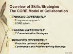 overview of skills strategies the core model of collaboration9