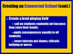 creating an connected school cont19