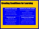creating conditions for learning