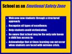 school as an emotional safety zone