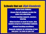 schools that set high standards