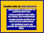 teachers who set high standards