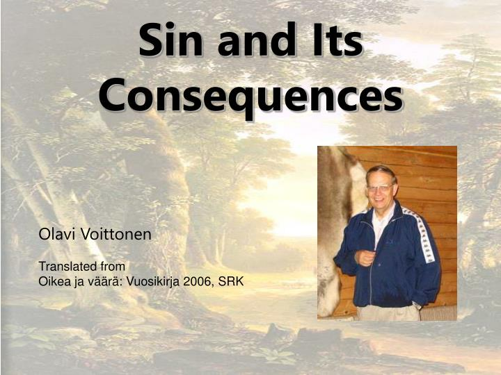 sin and its consequences n.