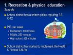 1 recreation physical education schools